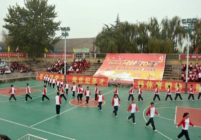 体育学院举办2015级新生队列队形暨广播操比赛图片